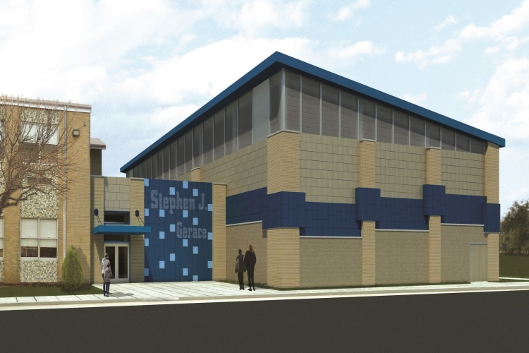 Pequannock gymnasium addition solutions architecture llc for J j school of architecture
